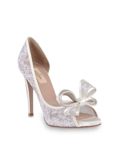 725df6510 so fab shoes: VALENTINO FAB WHITE BOW SHOES FOR BRIDE | Lovely Shoes ...