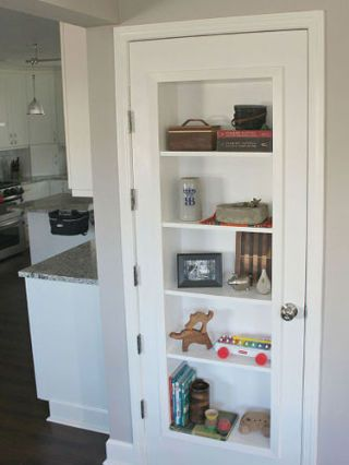 This is what you can do with that door to storage under the stairs.