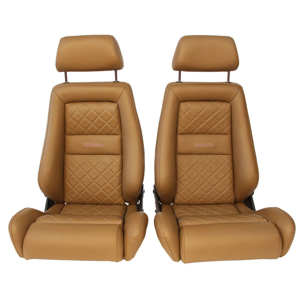 2 jdm recaro lx specialist tan leather reclinable solid