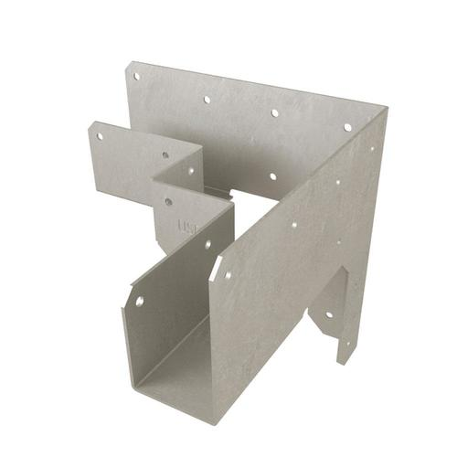 Usp 4 In X 4 In 18 Gauge Triple Zinc Corner Tie Lowes Com In 2020 Wood Screws Building A Deck Joist Hangers