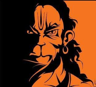 7f4b73f8415d6 Monochromatic Hanuman   tattoos   Hanuman photos, Hanuman jayanthi ...