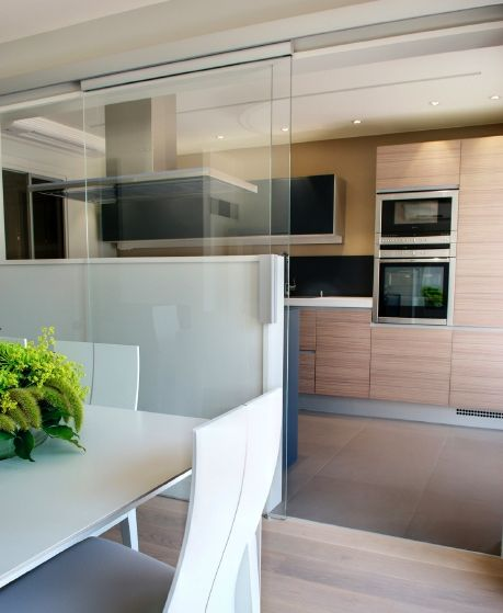 Puerta corredera cristal door pinterest kitchens ideas para and doors - Cristal puerta salon ...