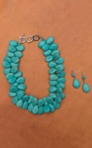 Turquoise Teardrop Necklace and Earring Set | Cavender's