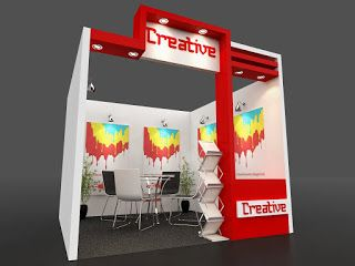 Exhibition Stall Design 3x3 : Creative meter one side open stall exhibition one side open