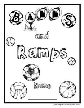 Balls and Ramps Science Student Journal and Word Wall