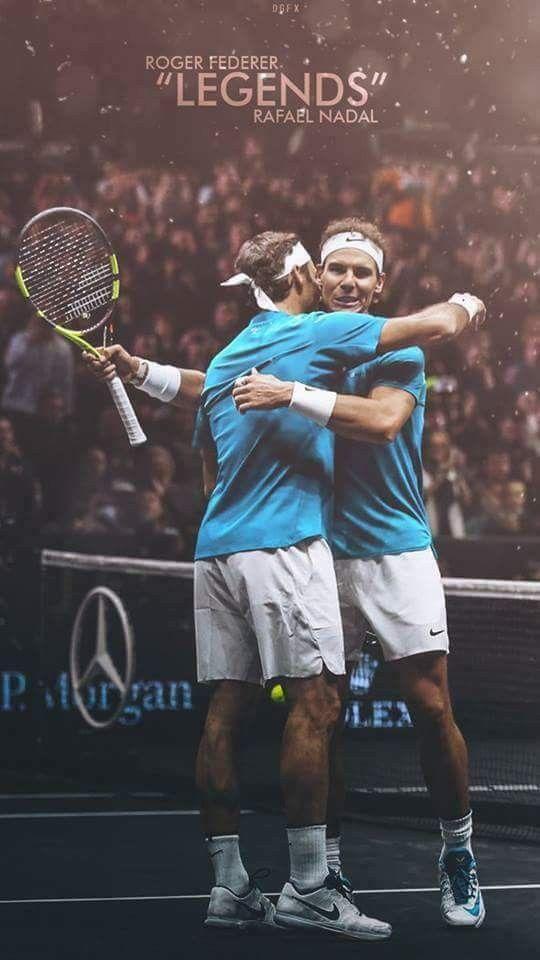 Legends Roger Federer Vs Rafael Nadal Roger Federer Tennis Legends Tennis Quotes