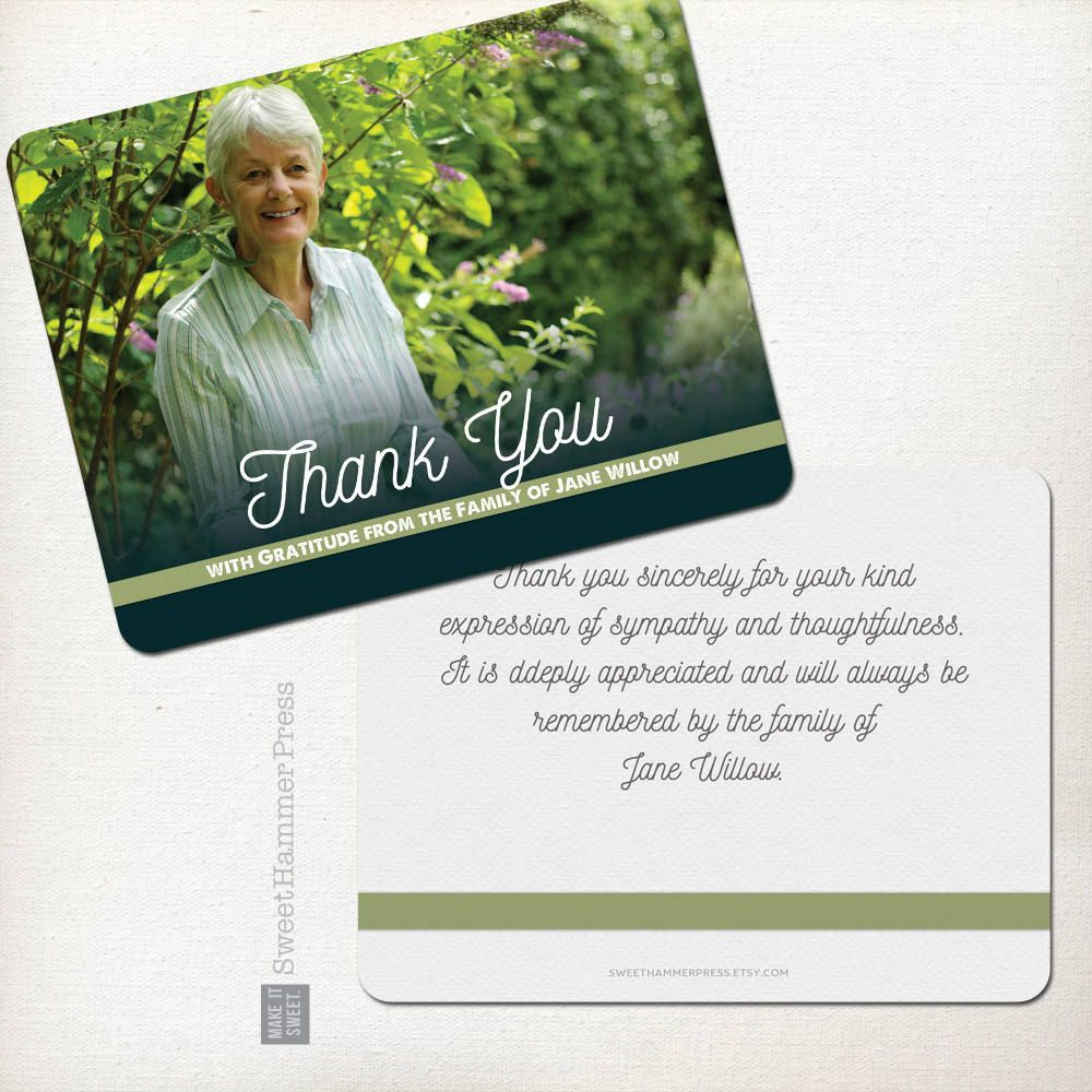 Sympathy Thank You Cards Sympathy Card Sympathy Thank You Notes In