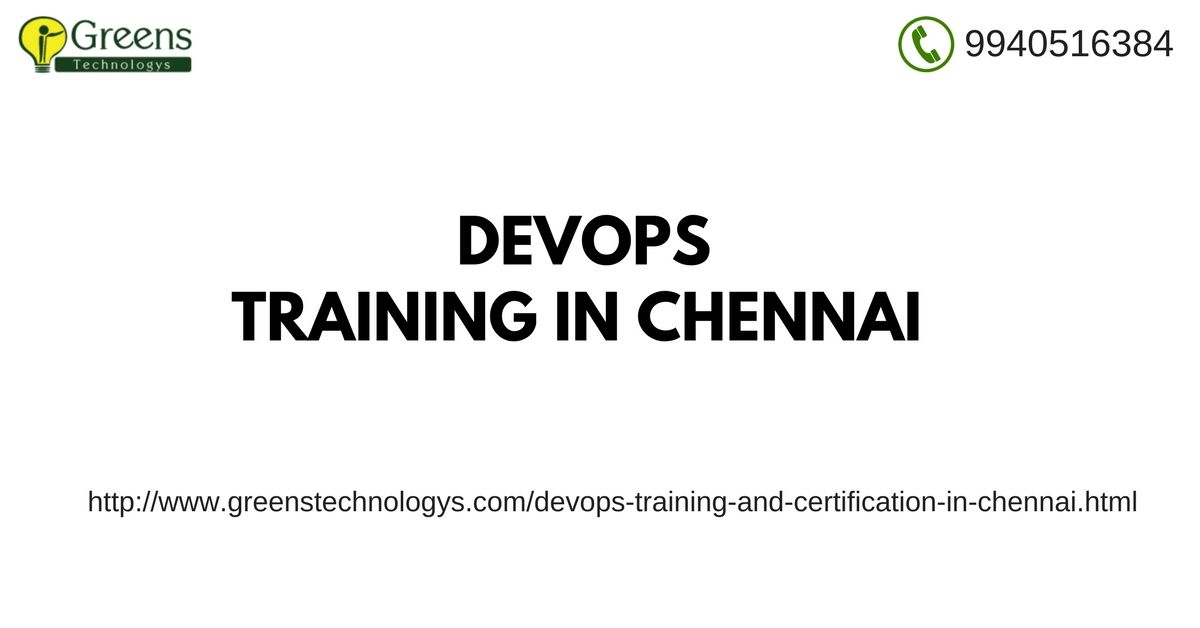 GreensTechnology provides #DevOpsTraining and certification