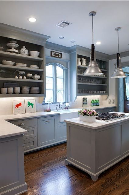 Gorgeous Gray: Kitchens and Bathrooms with Modern Gray Painted ...
