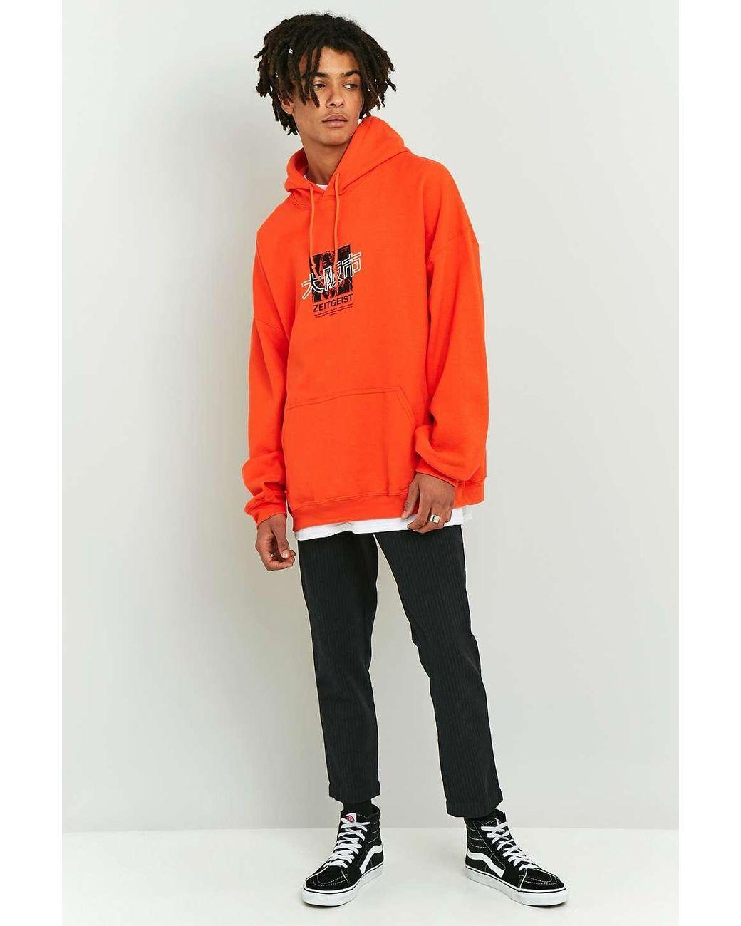 d66177c52b Urban Outfitters | Uo Orange Zeitgeist Hoodie for Men | Lyst | もの ...