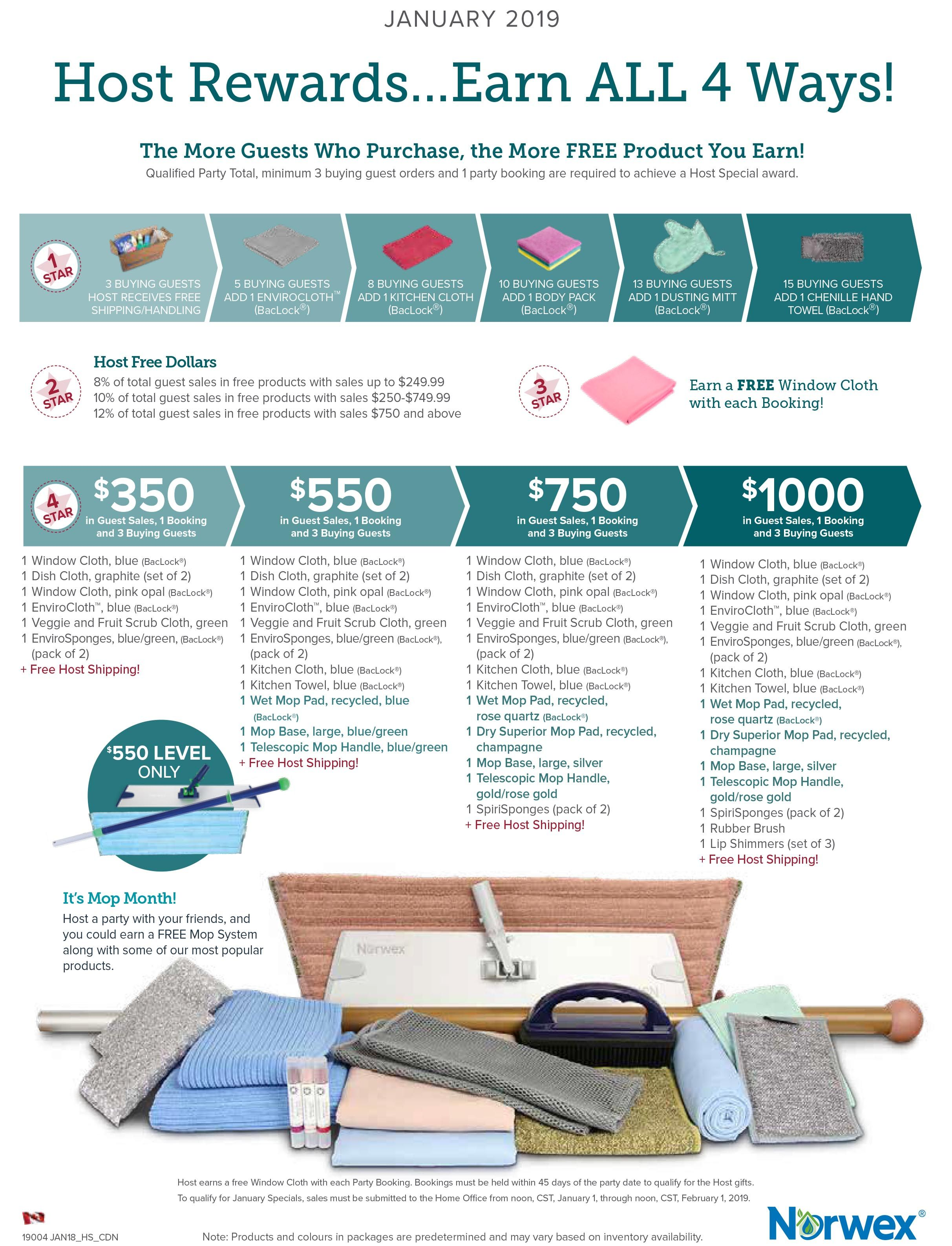 Share Norwex with family and friends in January and receive