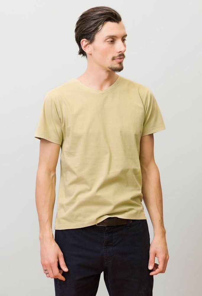 Mission Tee in Pale Olive