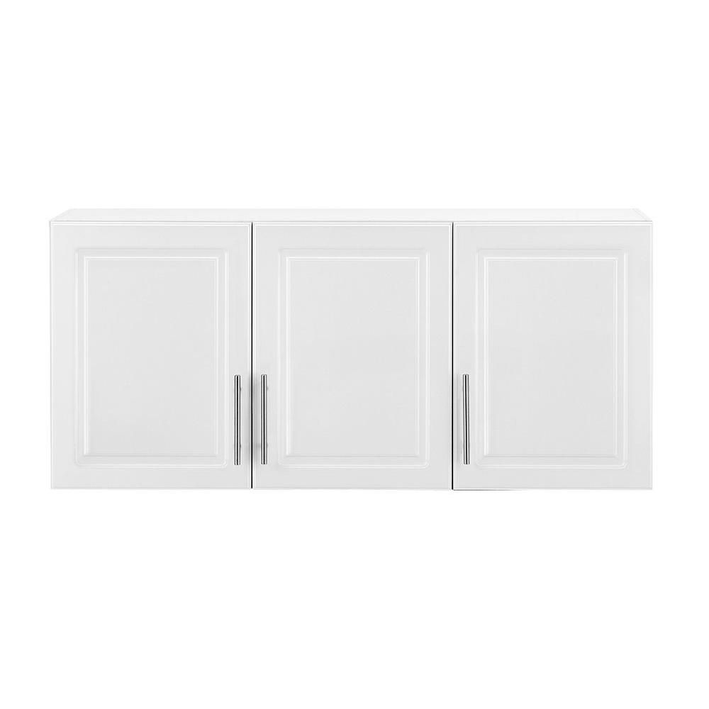 Hampton Bay Select MDF 3 Door Wall Cabinet In White THD90070.6a.ST   The Home  Depot