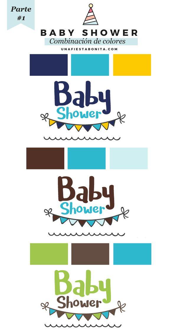 combinacion colores baby shower #ideas #babyshower #ideasfiesta