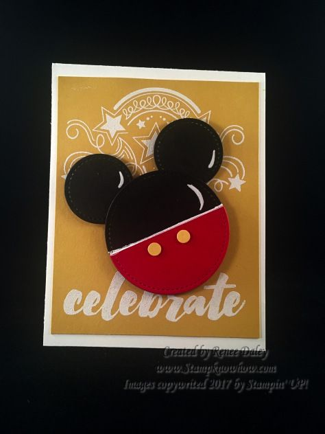 Punch Art Mickey Symbol On Birthday Blast Background Disney