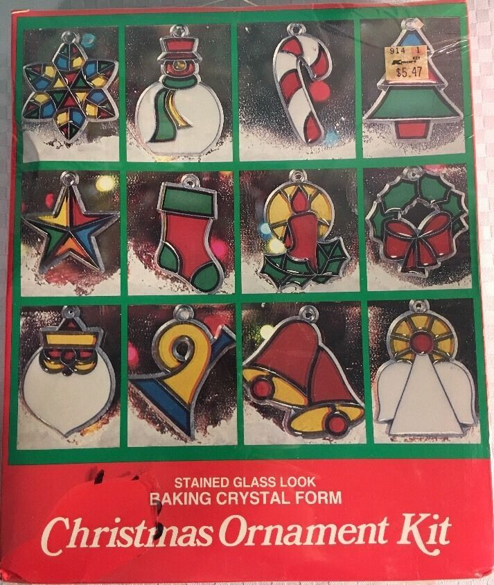 New Eze Form Christmas Ornament Kit Stained Glass Baking Crystal Form Ack 1 Ebay Glass Crafts Ornament Kit Mosaic Glass