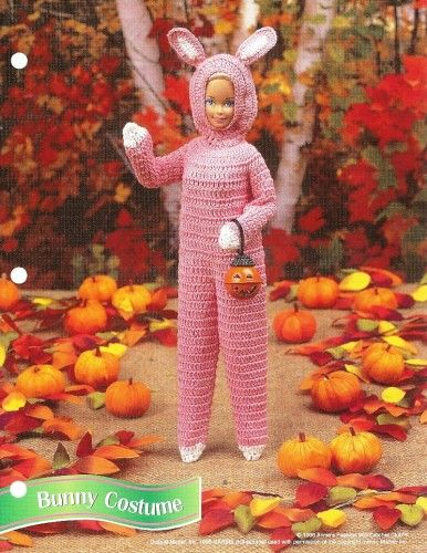Barbie Bunny Costume Annies Crochet Pattern Fashion Doll Clothes