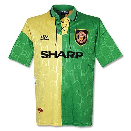 d017f3f1f 92-94 Manchester United Away Yellow Jersey Shirt