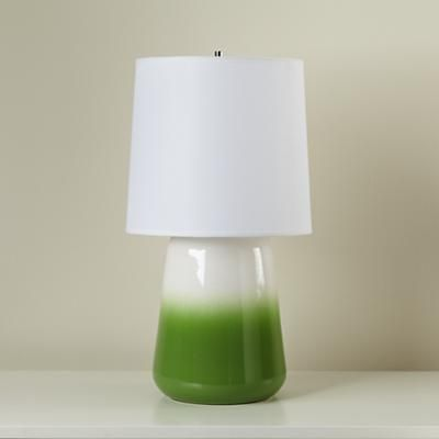 Green Ceramic Table Lamp in Table Lamps - land of nod