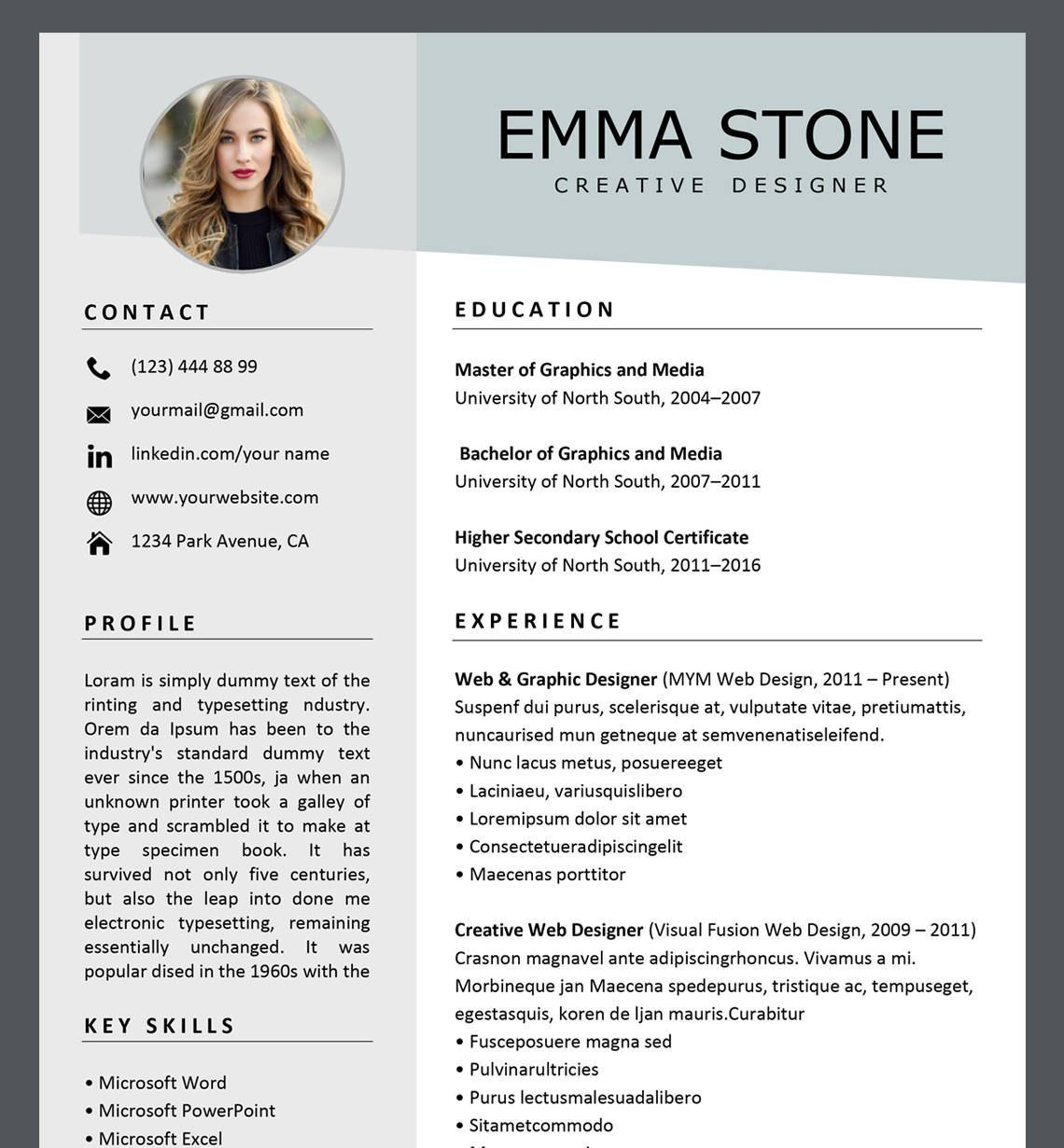 Resume Template Professional Resume Template Creative Resume Etsy Resume Template Creative Resume Creative Resume Templates