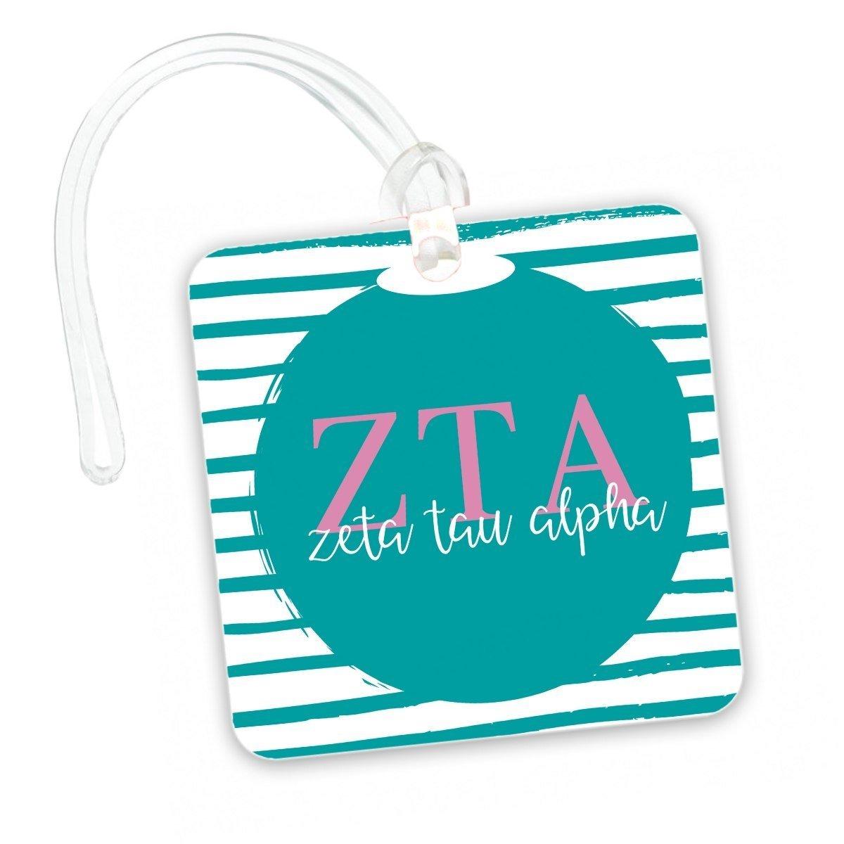 Delta Zeta Personalized Striped Luggage Tag