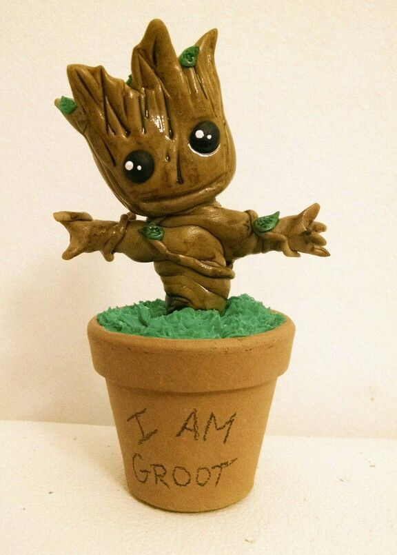 Chibi Groot Clay Biscuit