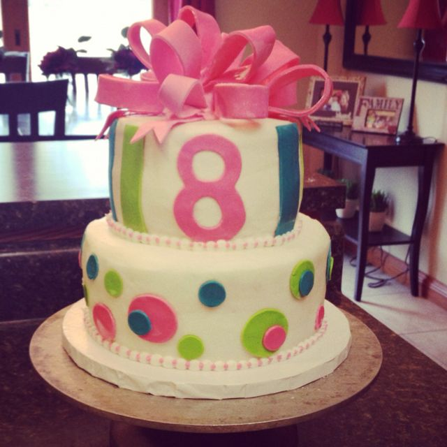 Awesome Birthday Cake For An Eight Year Old Girl 8Th Birthday Cake Funny Birthday Cards Online Benoljebrpdamsfinfo