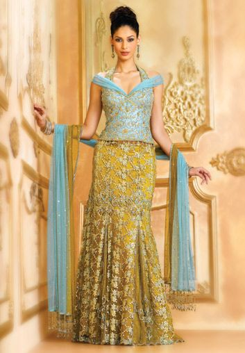 Image result for turquoise brocade lehenga