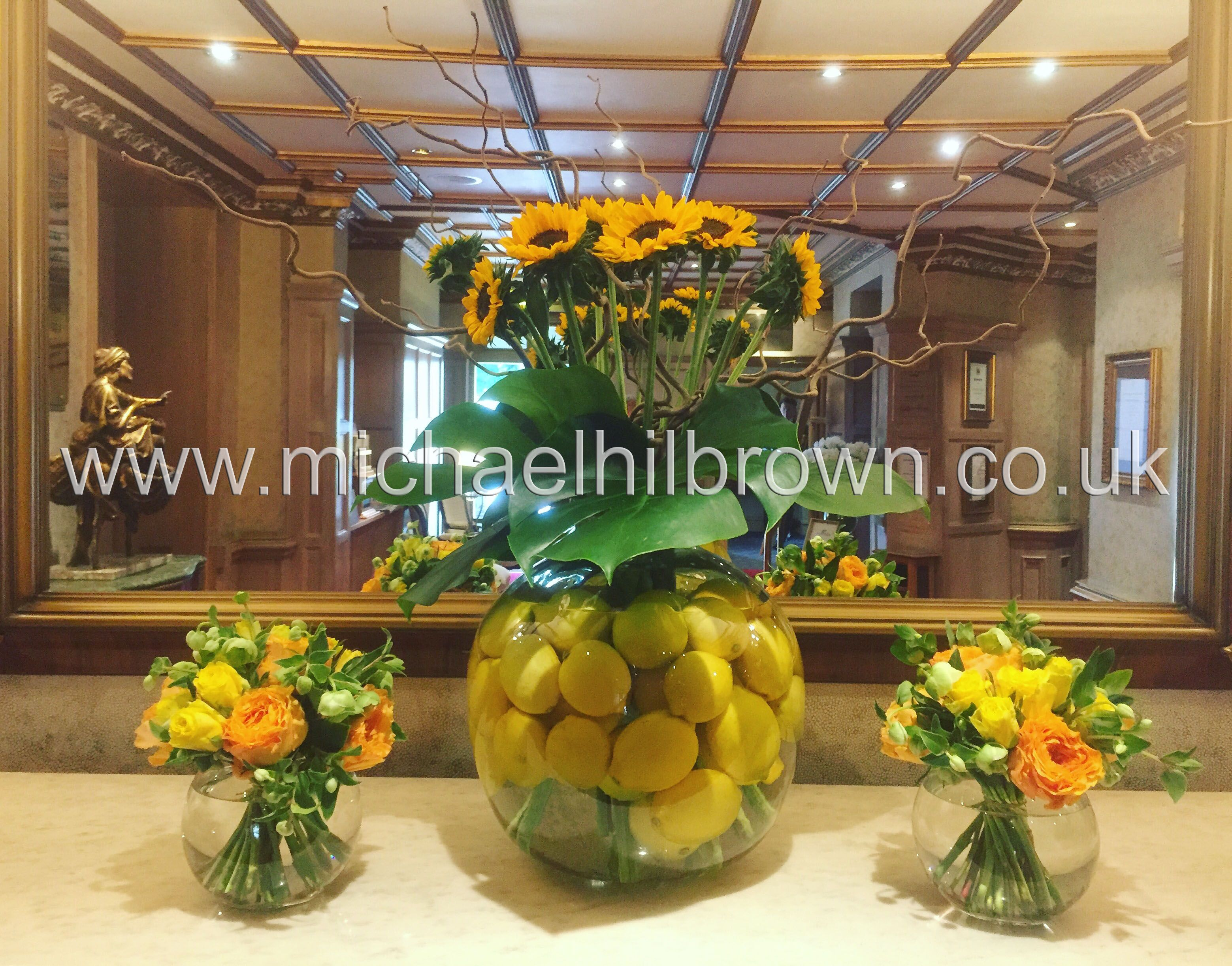 down hall country house hotel reception weekly contract flower