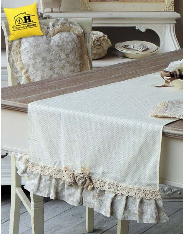 Runner shabby chic angelica home country collezione lady for Angelica home country