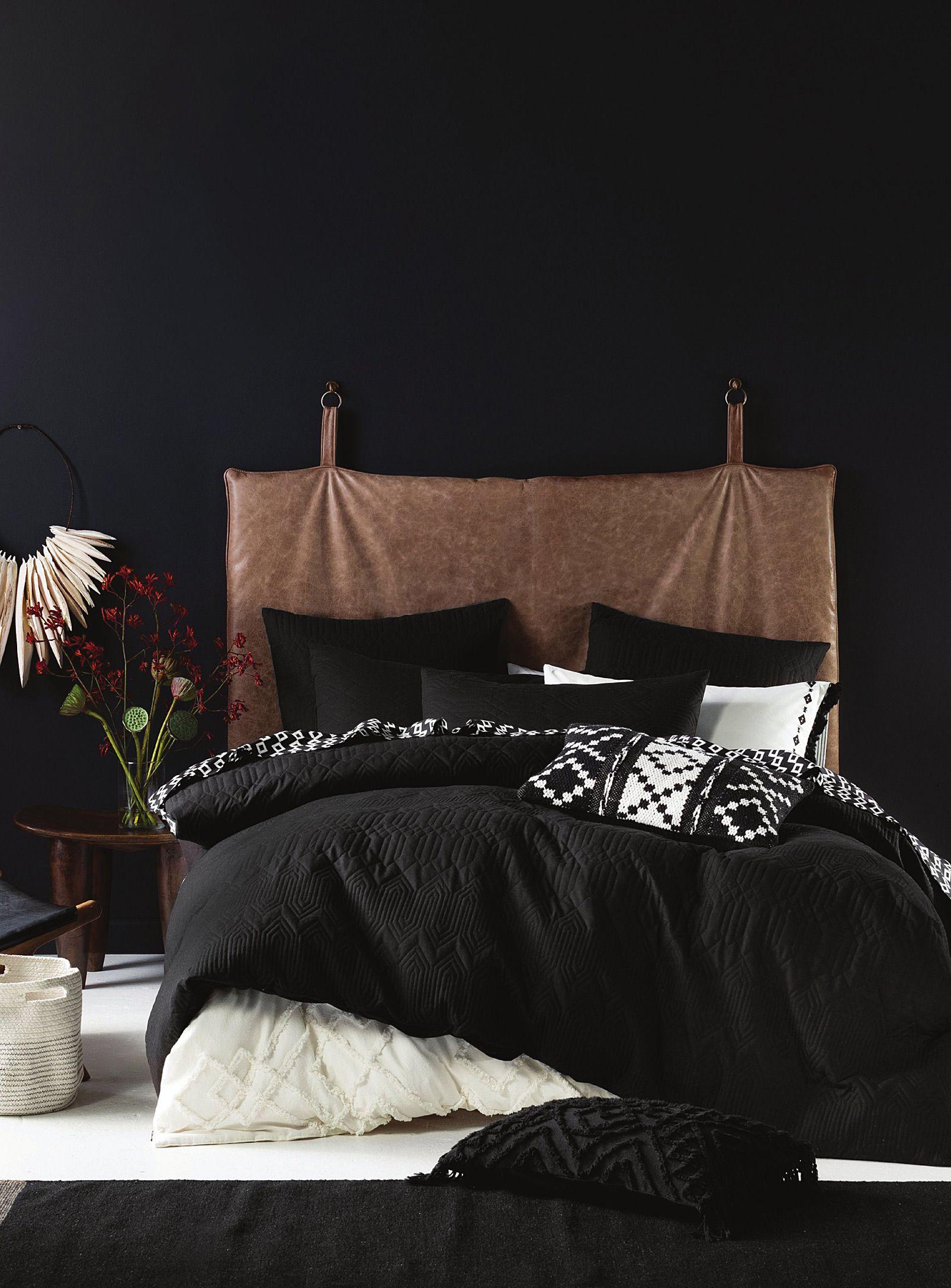 Pitch black duvet cover set Linen House Duvet Covers