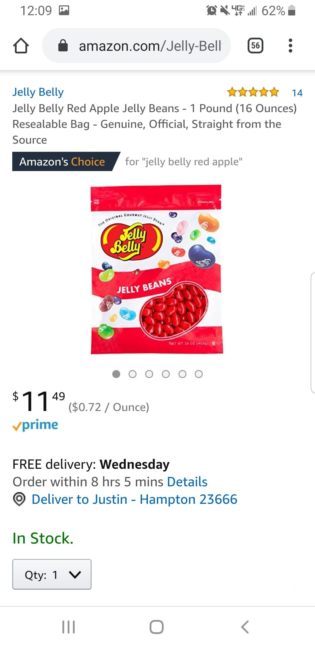 Red Jelly Beans In