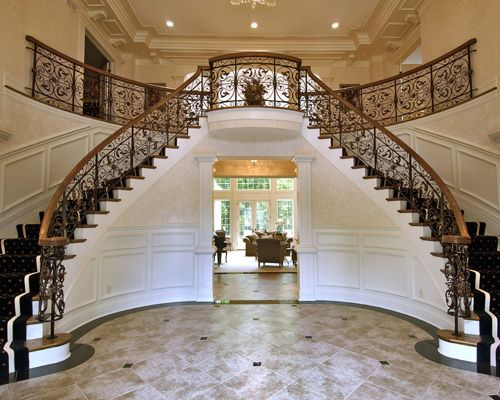 This double stair and balcony remind me of the house in ...