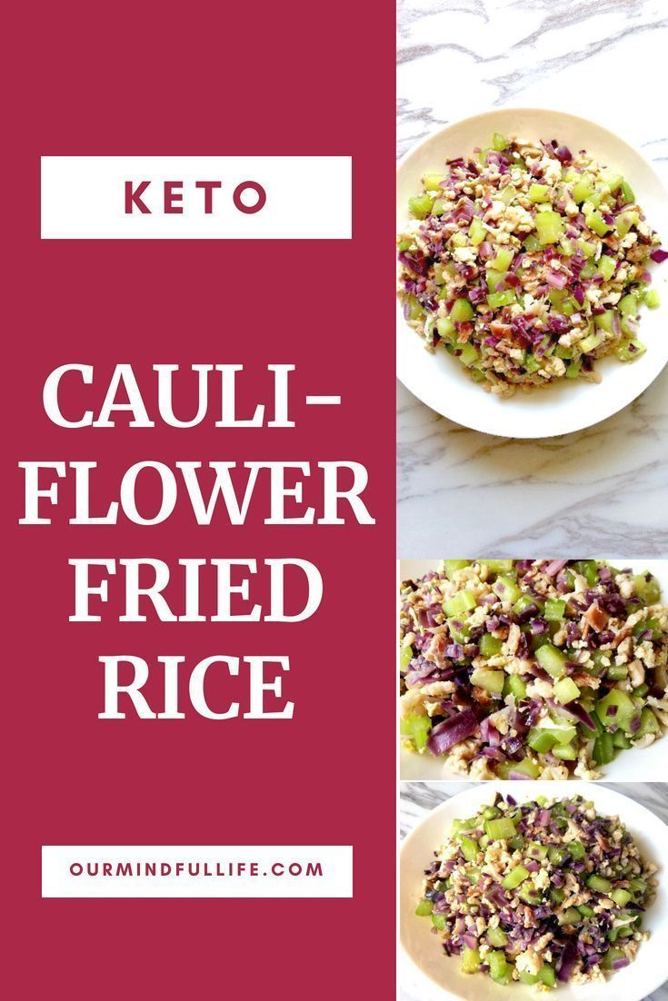 Cauliflower Fried Rice With Red Cabbage & Bacon – #bacon #cabbage #cauliflower #…