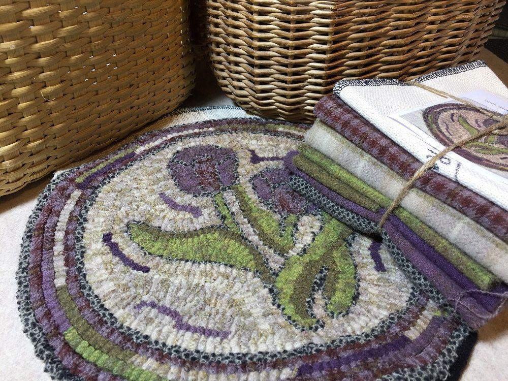 Primitive Rug Hooking Kit For Quot Tulip Chair Pad Quot K108