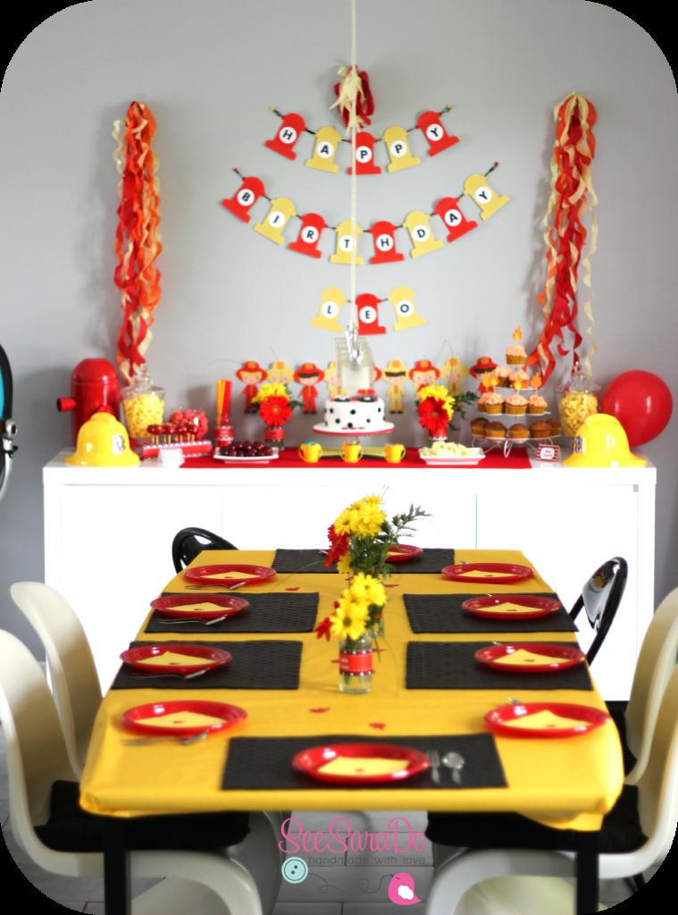 anniversaire pompiers fete pinterest anniversaire. Black Bedroom Furniture Sets. Home Design Ideas