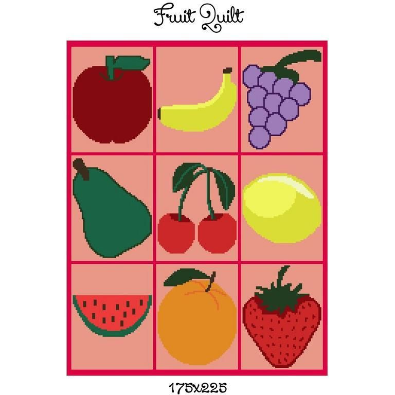 Looking for your next project? You're going to love Fruit crochet graph blanket pattern by designer CrochetInfinity.