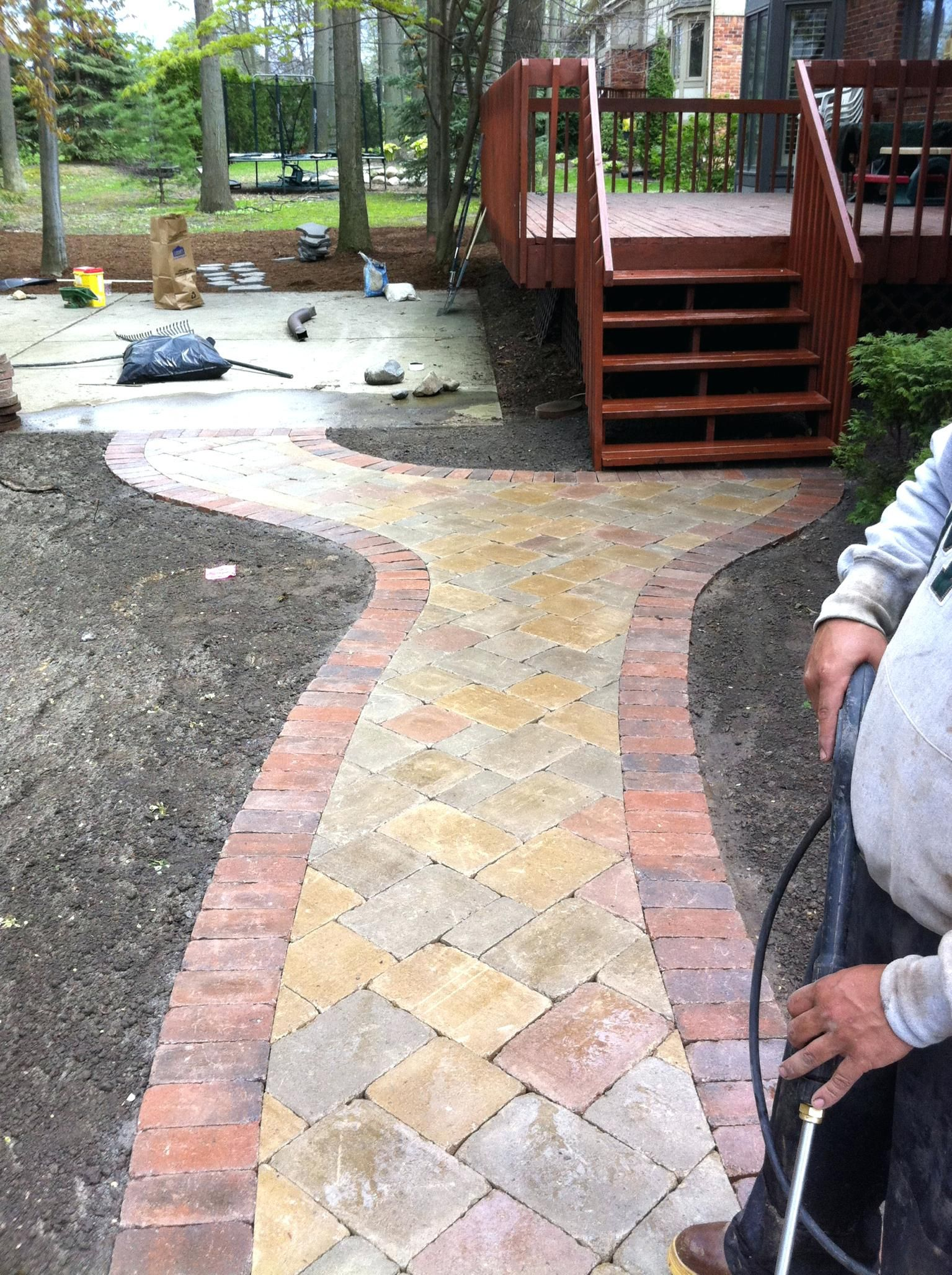 Lovely Patio Design:Brick Walkway Paver Patio Calculator Designs Photos Porch Cool  Design Backyard Full Size