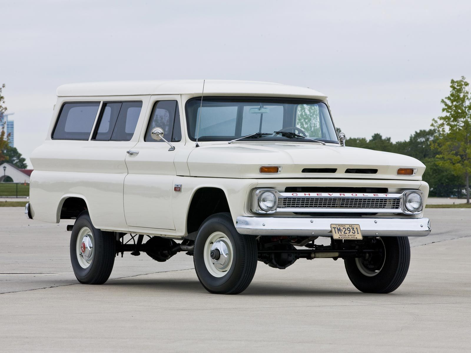 white vintage Chevrolet 60s panel delivery truck van - early SUV ...