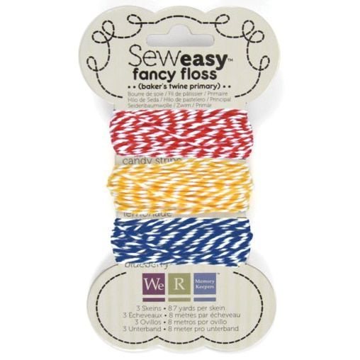 Sew Easy Baker's Twine 8.7yd 3/Pkg-Primary