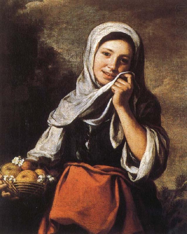 Bartolomé Esteban Murillo - Campesina con cesto con frutas