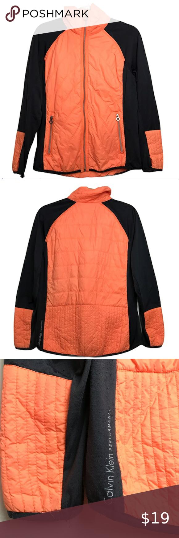 Calvin Klein Performance Neon Orange Puffer Jacket Orange Puffer Jacket Calvin Klein Calvin [ 1740 x 580 Pixel ]