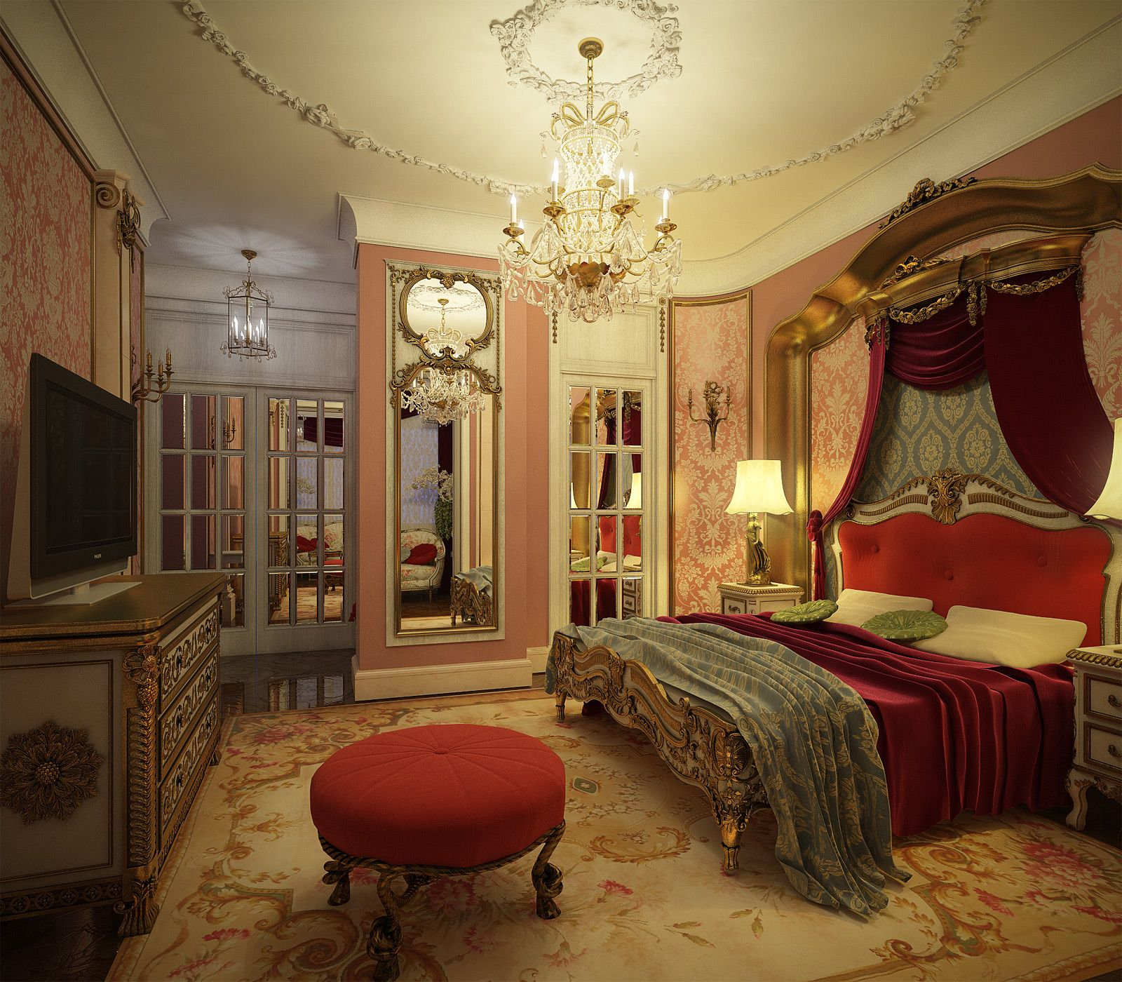 The most amazing bedroom i have ever seen opulent bedroom for Bedroom mural designs