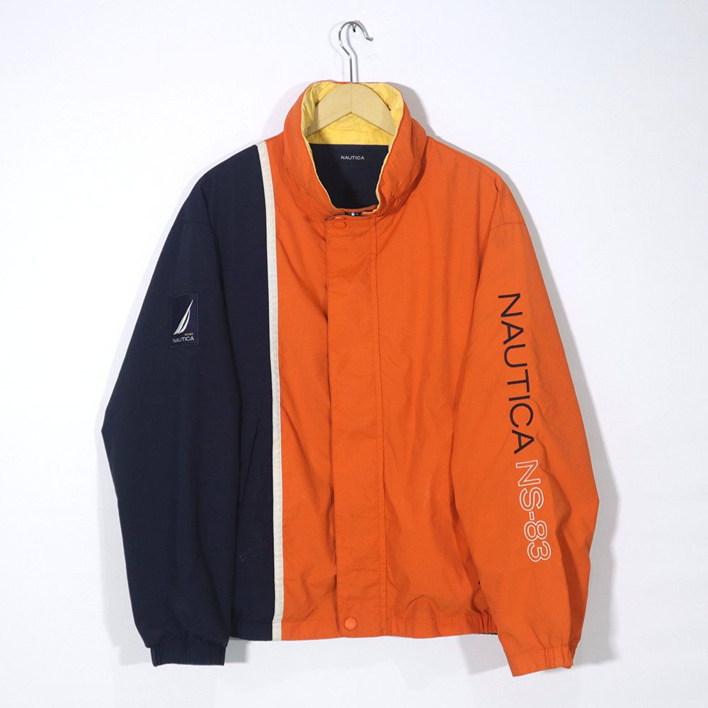 Vintage 90s Nautica Ns 83 Orange Blue Navy Parka Jacket Winter Coat Jacket Reversible Jacket Winter Coats Jackets Jackets Parka Jacket [ 1000 x 1000 Pixel ]