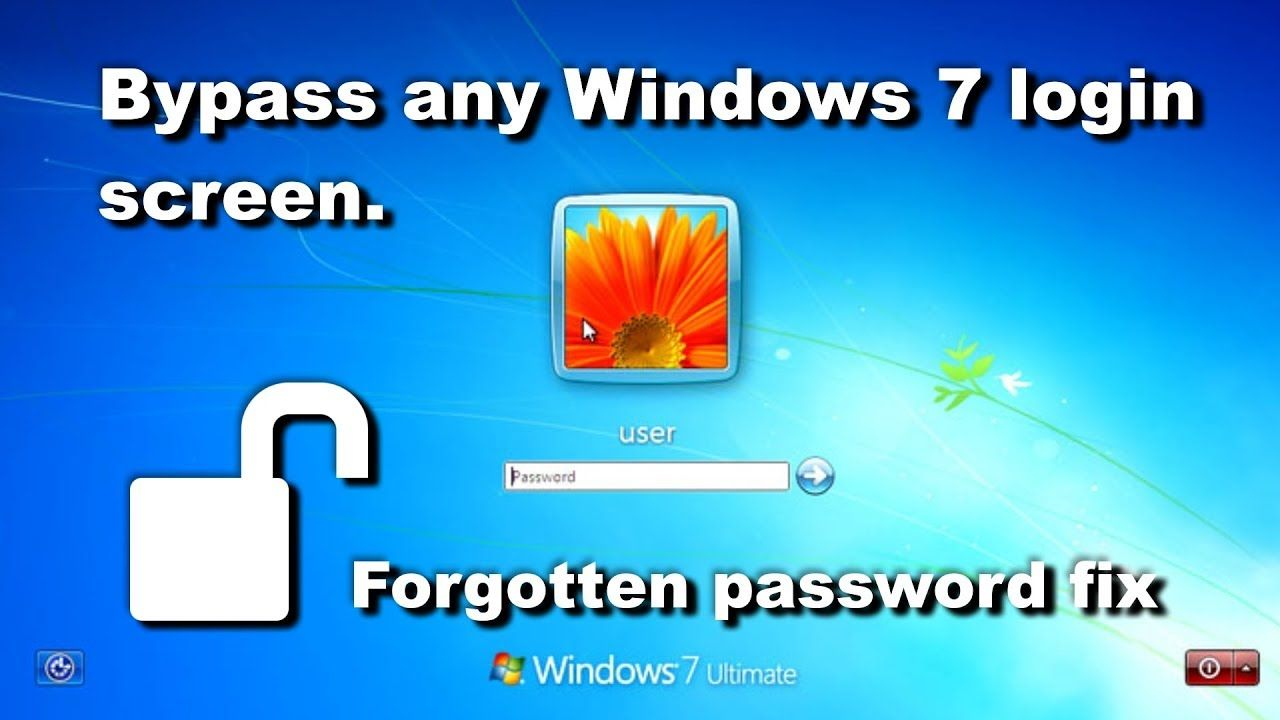 How To Fix Forgotten Windows 7 Password Bypass Login Screen Reset Pa Passwords Fix It Windows