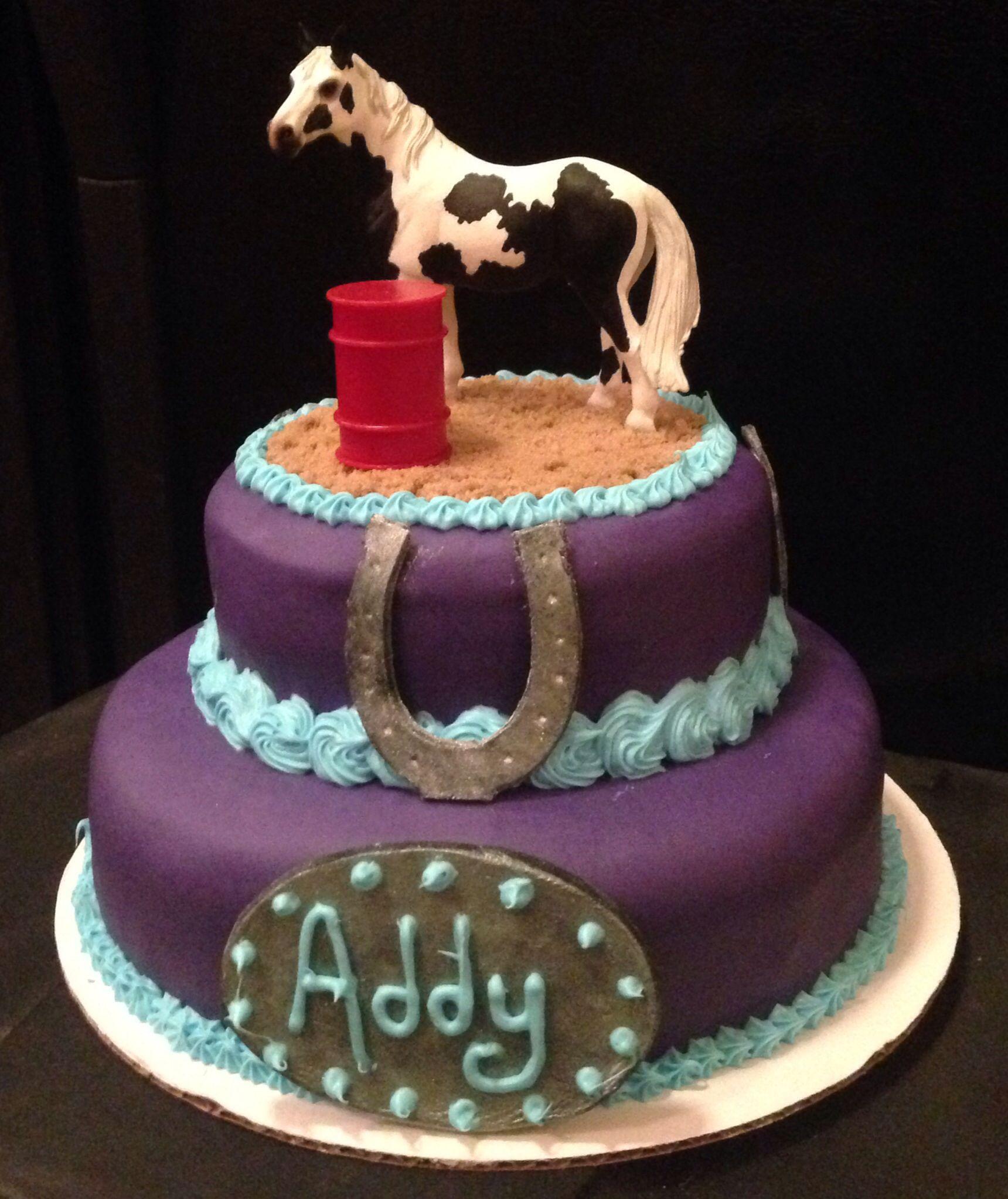 Barrel Racing Horse Birthday Cake Barrel Racing Cake Horse Cake