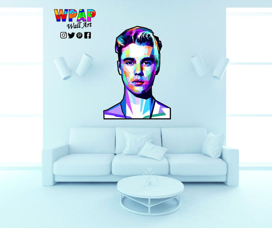 Wpap A4 Size Justin Bieber Wall Decal Wall Sticker By