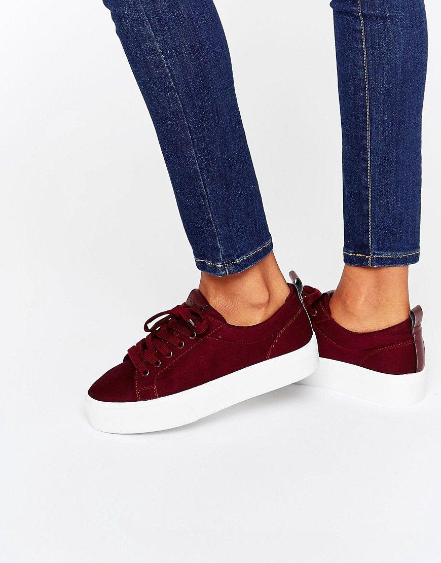 Pull Bear Flatform Trainer At Asos Com Flatform Sneakers Flatform Trainers Shoes Women Heels