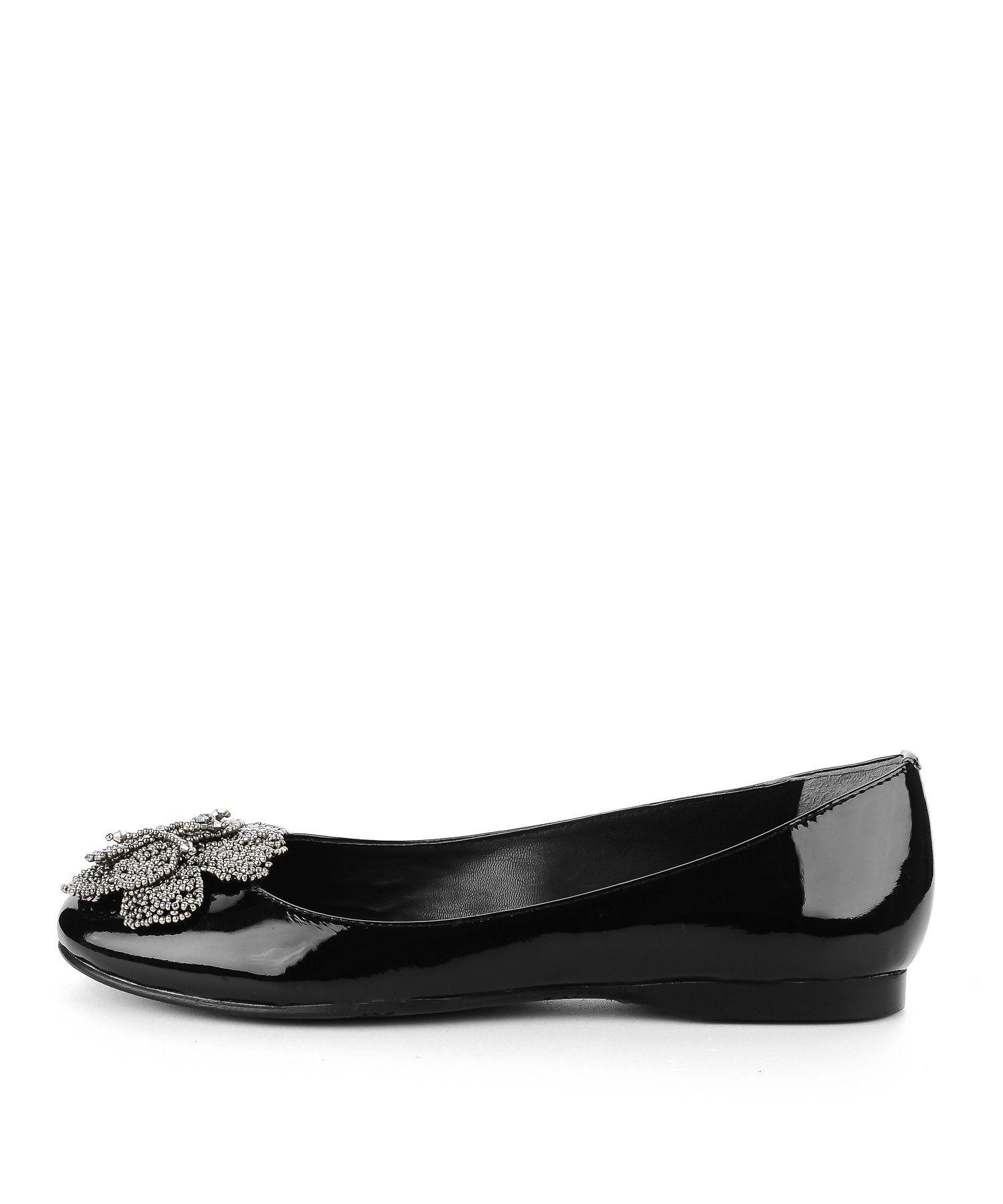 Czarne Lakierowane Baleriny Z Dzetami Shoes Flats Fashion