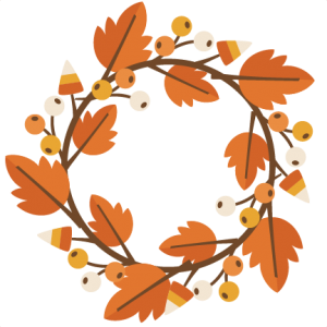 Fall Wreath Http Www Misskatecuttables Com Products Fall Freebie Of The Day Fall Wreath Php Fall Clip Art Wreath Clip Art Fall Design